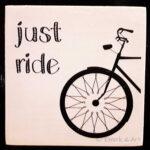 Holzbild Just Ride
