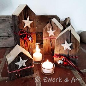 Altholz Häuschen Weihnachten