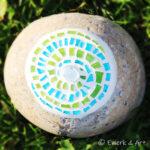 Mosaik Stein Spirale