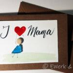 Kieselkarte I love Mama