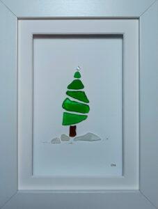 Kieselbild Weihnachtsbaum