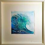 Aquarell Welle