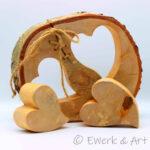 Baumscheibe Herz mit Schleife