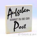 Holzbild Aufgeben Post